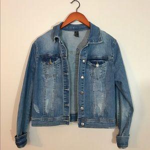 prAna Denim Jean Jacket Medium Wash Sz Large